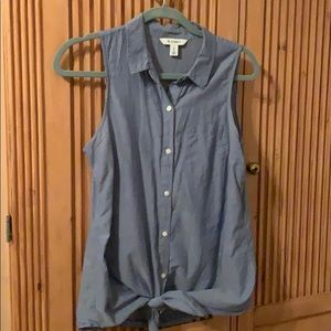 Old navy sleeveless tie shirt